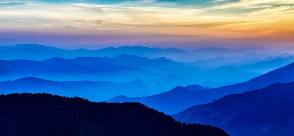 nepal, sunrise, mountains